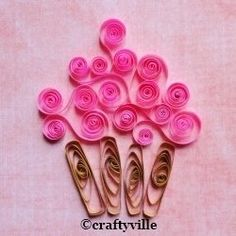 paper quilling patterns cupcake http://www.zujava.com/cupcake-quilling-patterns