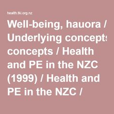 TKI Well-being, hauora - Health and PE Website, including information on Te Whare Tapa Wha