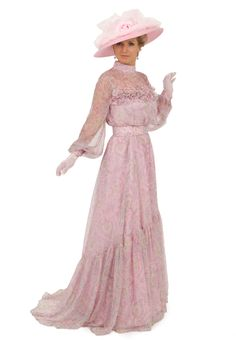 Silk Chiffon Edwardian Gown By Recollections