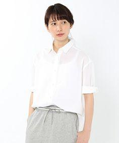 studio CLIP ウェア(スタディオクリップウェア)のボイル2WAYカシュクールシャツ(シャツ/ブラウス)|ホワイト