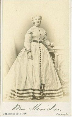striped dress 1860s (without the stripes or the hoop skirt, just a full petticoat)