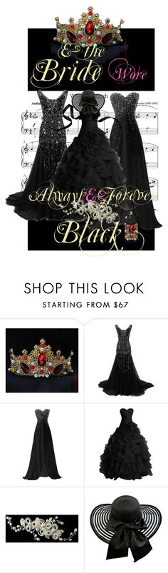 """""""www bride black"""" by www-whatwomenwan1 on Polyvore featuring Reception"""