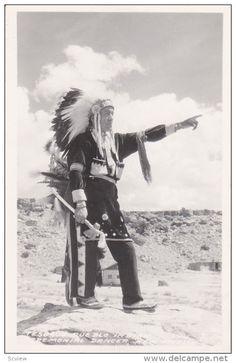 RP: Tesoque Pueblo Indian Ceremonial Dancer, New Mexico, 30-50s - Delcampe.com