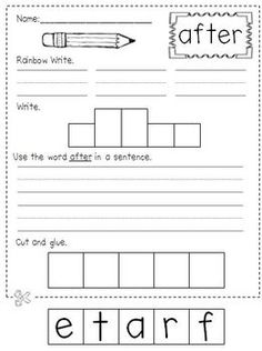 First Grade Sight Word Practice...could be great extra practice for students who need to work on a specific word