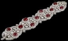 Harry Winston - diamond and Burma rubies bracelet - Yafa Jewelry