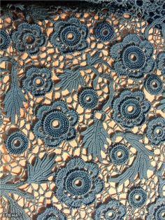 irish crochet, nice in this blue shades