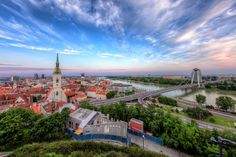 The fish-eye view of Bratislava This is my very first fish-eye HDR. I tried to remove the distortion as good. Bratislava, Boutique Decor, South Of The Border, Austro Hungarian, Brutalist, Old Town, The Locals, Paris Skyline, Travel Destinations