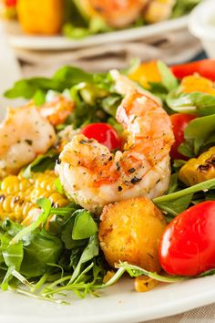 Healthy Shrimp and Arugula Salad | by brent.hofacker