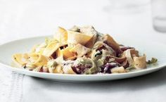 Creamy Pappardelle with Leeks and Bacon / Ditte Isager