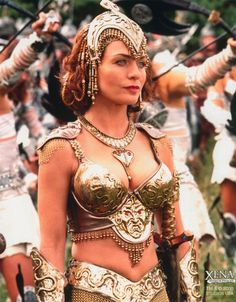 Athena is the Greek Goddess of Wisdom,Warfare, and Weaving. She was the daughter of Greek King of Gods, Zeus and Greek Titaness Metis. She is also half sister of Hercules. She is depicted as more self-righteous and condescending than wise. She was in Xena:Warrior Princess show.