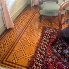 A Look Inside the Winchester Mystery House: Beautiful details: Ornate wooden floors