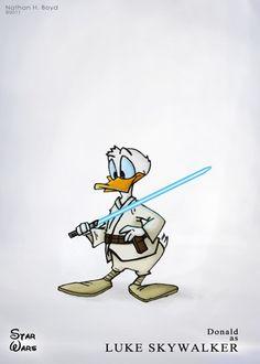 Personagens da Disney viram heróis e vilões de Star Wars em ilustrações