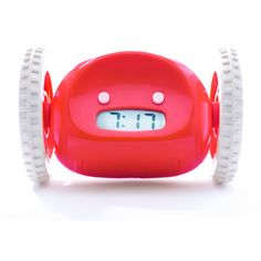 after the alarm goes off, the clock rolls away and you have to find it to turn it off! LOL