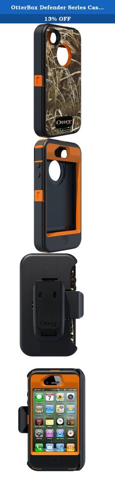 OtterBox Defender Series Case and Holster for iPhone 4/4S - Retail Packaging - Realtree Camo - Max 4HD Orange. This rugged case provides heavy duty protection from rough treatment in the worst environments. Ensure your new phone avoids scratches, dust and damage with OtterBox protection.