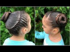 PEINADO PARA NIÑAS TRENZA DE 4 CABOS Y CHONGO|PEINADOS FÁCILES PARA NIÑAS|LPH - YouTube Nail Art Designs, Little Girls, Hair Styles, Beauty, Fashion, Kid Hairstyles, Hairstyle Ideas, Sink Tops, Hairstyles For Girls
