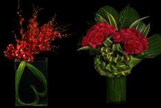 Valentine floral arrangements.