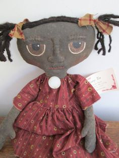 Prim Black Doll by Bette Seaver of Bettesbabies on Etsy