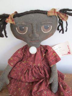 Prim Black Doll by Bette Seaver of Bettesbabies on Etsy