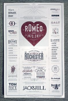 Typographic Matchmaking Poster - amazing letterpress piece