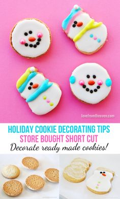 Holiday Cookie Decorating Tips - In a pinch for time, decorate store bought cookies! #smartcookietip