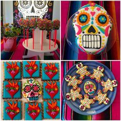 #party #mexico #love #decor #dayofthedead #mexicanheart #cookies #happybirthday #girl #skull #cake #instadecor #art #tablesetting