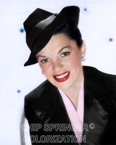 JUDY GARLAND Wearing a Tuxedo #1 | 8x10 Sexy COLOR Photo by CHIP SPRINGER. Featured Ebay Listing. Please visit my Ebay Store, Legends of the Silver Screen, at http://legendsofthesilverscreen.com to see the current listings of your favorite Stars now in glorious color! Thanks for looking and check out my Youtube videos at https://www.youtube.com/channel/UCyX926rA5x4seARq5WC8_0w
