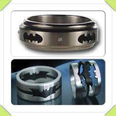 engagement ring batman collage - Nerd Wedding Rings