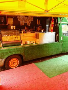 Grass covered food truck