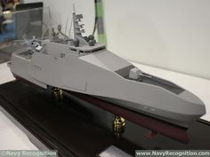 MAST Asia 2017: Japan's ATLA Unveils Future Multi Purpose Trimaran Concept Model Warships, Boat Projects, Yacht Boat, Boat Design, Navy Ships, Luxury Yachts, Aircraft Carrier, Military Art, Royal Navy
