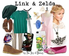 Couples outfits inspired by Link and Zelda from the video game The Legend of Zelda! I know it isn't Disney :)