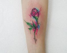 Beauty and the Beast Rose Tattoo by Josie Sexton