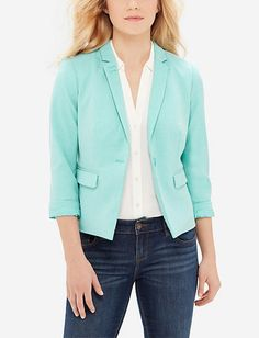 Textured Madison Blazer - love the color and how it's fitted!