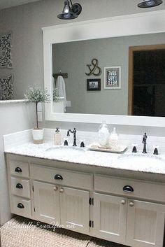 DIY Farmhouse Master Bathroom Makeover
