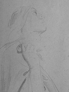 CHASSERIAU Théodore,1843 - Ste Marie l'Egyptienne, Assomption, Etude pour l'Eglise St-Merri(3) - drawing - Détail 08