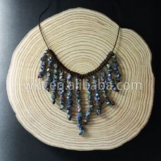 WT-N620 Latest design natural rainbow titanium pyrite statement necklace,style tiny stone special necklace in randomly by WKTjewelry on Etsy