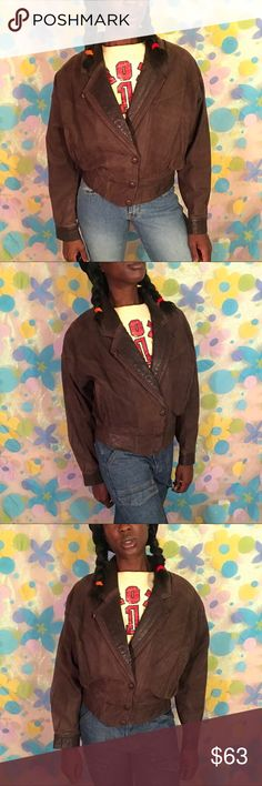 Vintage Genuine leather jacket small brown 80s Big score with this vintage brown leather jacket. Size small and in awesome condition. 🍂🍁🍂 DM TO PURCHASE!!! #byrnesandbaker #leather #leatherjacket #thinsulate #authentic #vintage #80s #90s #womensfashion #womensclothing #womenswear #outerwear #cold #winter #fall #forsale #depop #ebay #poshmark #vinted #smallbusiness #thrift #blackowned #blackgirlmagic #ride #motorcycle #fashion #luxury #couture Jackets & Coats Blazers