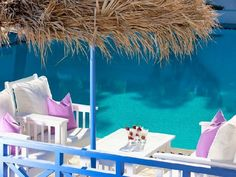 Perfect place for your coffee //// Acqua Vatos, Kamari Santorini, Greece