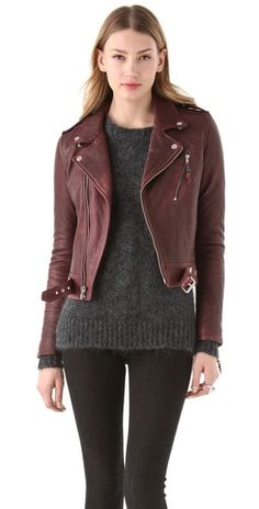 BLK DNM Cropped Leather Motorcycle Jacket (via http://www.chicityfashion.com/real-and-faux-leather-jackets/)