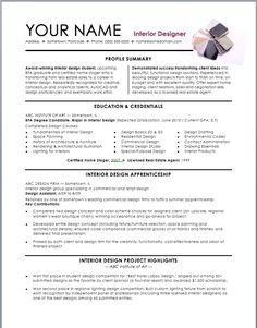 Interior Design Resume Template - Interior Design Resume Template we provide as reference to make correct and good quality Resume. Alsowill give ideas and strategiesto develop your own resume. Do you needa strategic resume toget your next leadership role or even a more challenging position?There are so many kinds of Free Res... - http://allresumetemplates.net/1746/interior-design-resume-template/
