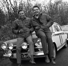 Cortina MK1 - 1965 with Jim Clarke (on left) F.1. Champion & Roger Clark, U.K. Rally Champion.