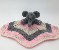 Excited to share the latest addition to my NEW shop: Elephant LoveyBaby Blanket -baby lovey - crochet lovey- pink and grey baby lovey Crochet Elephant, Elephant Pattern, Pink Elephant, Baby Security Blanket, Lovey Blanket, Crochet Lovey, Baby Blanket Crochet, Baby Lovey, Crochet For Kids