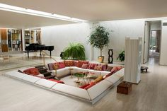Minimalist Living Room Conversation Pit At Creative Ideas Sunken