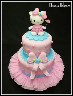 hello kitty cake samia - claudia behrens by Claudia Behrens ~ Cakes, via Flickr