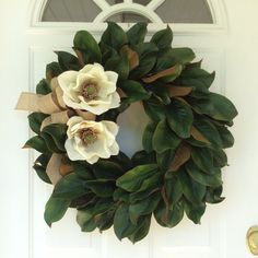 Magnolia Leaf Wreath-Magnolia Wreath-Magnolia by ReginasGarden