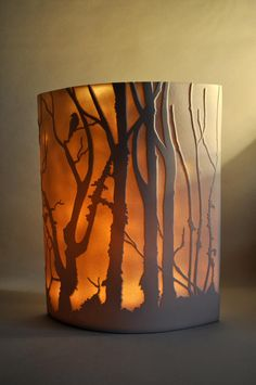 "Translucent ceramic ""light"" by Cornwall-UK artist, Amy Cooper Ceramics"
