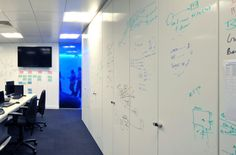 Project rooms should all have one wall that is floor to ceiling whiteboard.