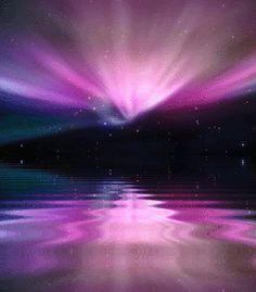 Resultado de imagen para auroras boreales gif