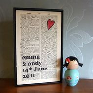 Love this- It'd make a perfect 1st wedding anniversary gift!