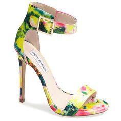 Steve Madden 'Marlenee' Floral Print Sandal found on Polyvore