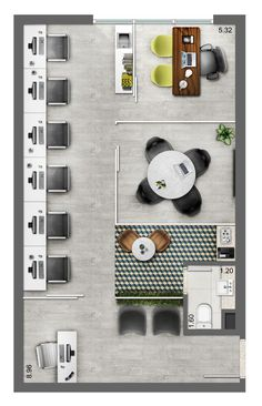 Neorama - Floor Plan - Office - Smart/Lima e Silva #officedesignscorporate